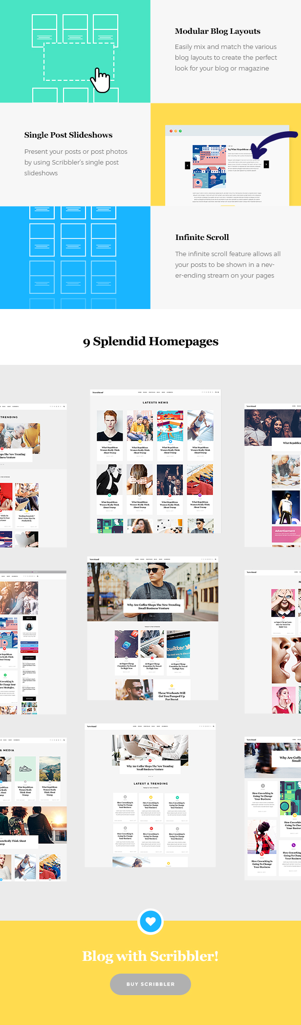 WordPress theme Scribbler - A Simple Theme for Blogs and Magazines (Blog / Magazine)